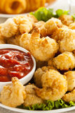 Organic Breaded Popcorn Shrimp Royalty Free Stock Images