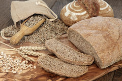 Organic Brown Bread Stock Images