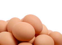 Organic Brown Eggs Royalty Free Stock Image