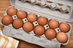 Organic brown eggs Royalty Free Stock Photos