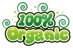 100% Organic. In bubble font stock illustration