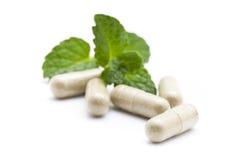 Organic capsule Royalty Free Stock Image
