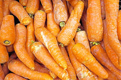Organic carots in a market stall Stock Photography