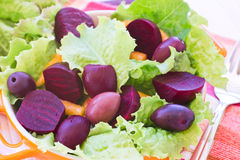 Organic Carrot and Beetroot Salad Royalty Free Stock Image