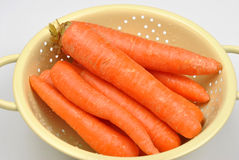 organic carrot ready to wash Stock Image