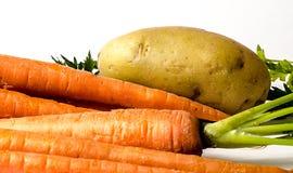 Organic Carrots potato. Royalty Free Stock Photo