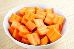 Organic carrots sliced. Stock Photo