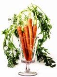 Organic Carrots in Vase. Stock Photos