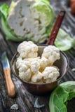 Organic cauliflower Stock Images