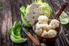 Organic cauliflower Stock Photo