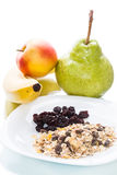 Organic Cereal with fruit Royalty Free Stock Photo