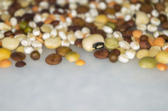 Organic cereals legumes. And bio ingredients Royalty Free Stock Image