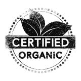 Organic certified label Royalty Free Stock Photo
