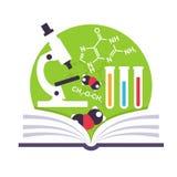 Organic Chemistry Emblem Stock Photo
