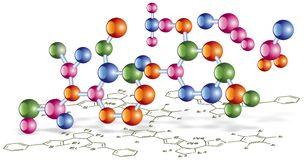 Organic chemistry scheme Royalty Free Stock Images