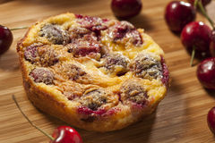 Organic Cherry Cobbler Cake Royalty Free Stock Photography