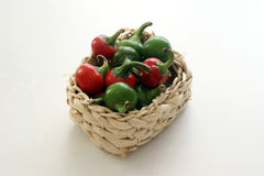 organic cherry paprika in a basket Stock Photo