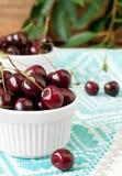 Organic cherry Stock Photo