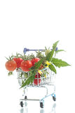 Organic cherry tomatoes Stock Photos
