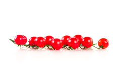 Organic cherry tomatoes, isolated on white Stock Images