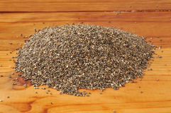 Organic chia seeds Royalty Free Stock Images