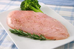 Organic chicken breast. Raw and juicy ingredient  a perfect protein source Stock Photos