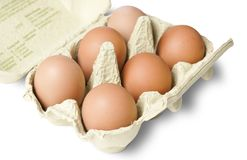 Organic chicken eggs in carton Stock Photo