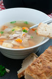 Organic Chicken Soup Royalty Free Stock Image
