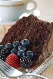 Organic chocolate cake Stock Photo