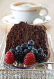 Organic chocolate cake Royalty Free Stock Photo