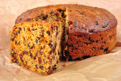 organic christmas cake with fruit Stock Photo