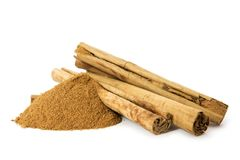Organic Cinnamon Stock Photography
