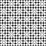 Organic Circle Pattern. Optical circle pattern in black and white. Can be used as is or seamlessly tiled for a background Stock Photography