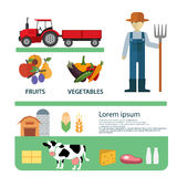 Organic Clean Foods Good Health Template Design. Infographic Stock Photography