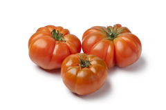 Organic Coeur de Boeuf tomatoes Royalty Free Stock Photo