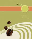 Organic coffee background Stock Image