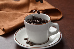 Organic coffee beans Stock Photo
