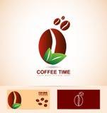 Organic coffee beans Stock Image