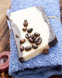 Organic Coffee Homemade Soap Royalty Free Stock Photo