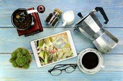 Organic coffee shop concept. stock photos