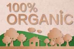 100% organic concept. For eco friendly Vector Illustration