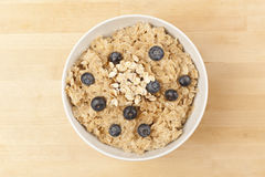 Organic Cooked oatmeal with blueberries Royalty Free Stock Photo