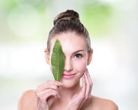 Organic cosmetic concept stock photo