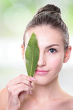 Organic cosmetic concept stock images