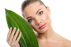 Organic cosmetic Stock Photo