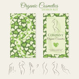 Organic Cosmetics Design Kit Royalty Free Stock Photography