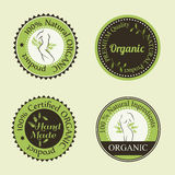 Organic cosmetics round badges Royalty Free Stock Photography