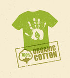 Organic Cotton Creative Concept On Grunge Rust Background. Eco Green Set Of Vector Icons. Organic Cotton Creative Concept On Grunge Rust Background. Eco Green Royalty Free Stock Images