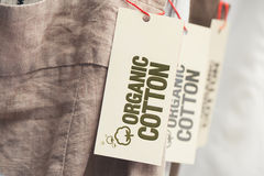 Organic Cotton Label Stock Photos