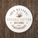 Organic cotton label Stock Photo